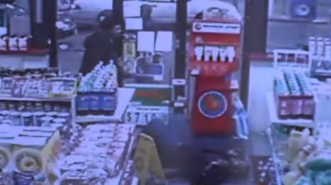 Video surveillance captured Belcher entering the store asking for help before falling on the floor. (Photo: CBS 58)