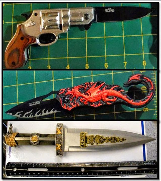 It's a gun. It's a knife. No, it's now property of the TSA.