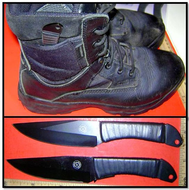 Just because you can fit a pair of six-inch knives inside of your boots, doesn't necessarily mean you should.