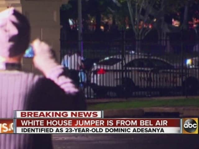 Dominic Adesanya, 23, was taken into custody Wednesday night by the Secret Service after he scaled the fence at the White House. (Photo: ABC 6)
