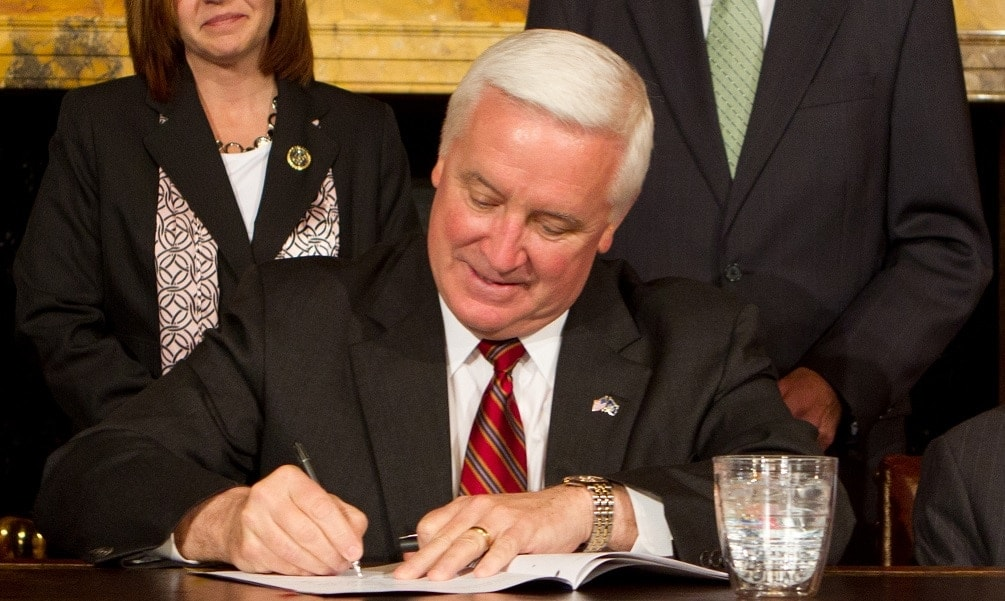 Pennsylvania Gov. Tom Corbett (R), seen here in this file image, signed HB80 into law Tuesday. (Photo: Commonwealth Media)