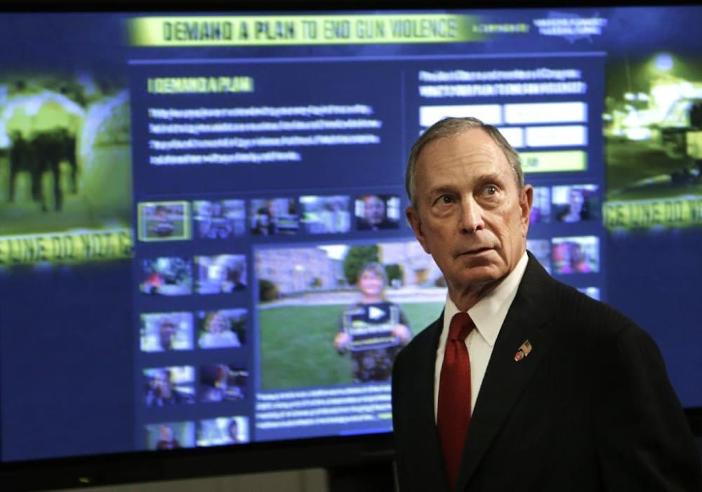 Michael Bloomberg's gun control umbrella intends to be on the move in coming months trying to replicate Washington state's successful ballot initiative.  (Photo: Seth Wenig/AP)