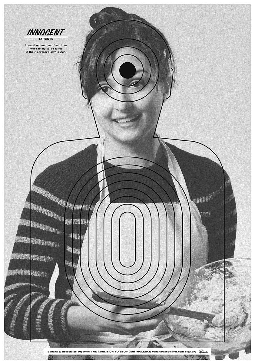Innocent Target poster with proceeds to help fund the efforts of the Coalition to Stop Gun Violence. (Photo: Banana and Associates)