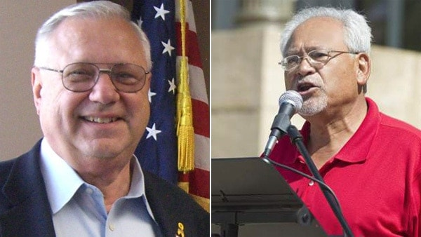 Republicans Bernie Herpin, left, and George Rivera lost their historically Democratic Colorado Senate seats earned in a historic recall election after just 13 months this week. (Photo: KWGN)
