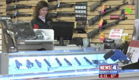 Steven King, owner of Metro Shooting Supplies, said the weekend guns sales were all for either home or self-defense firearms. (Photo: KMOV)