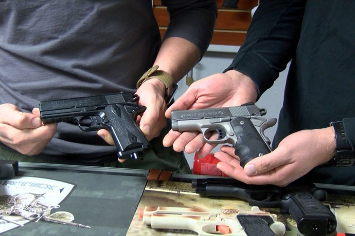 With a little black paint, an airsoft gun can look very close to the real thing. (Photo: ABC)