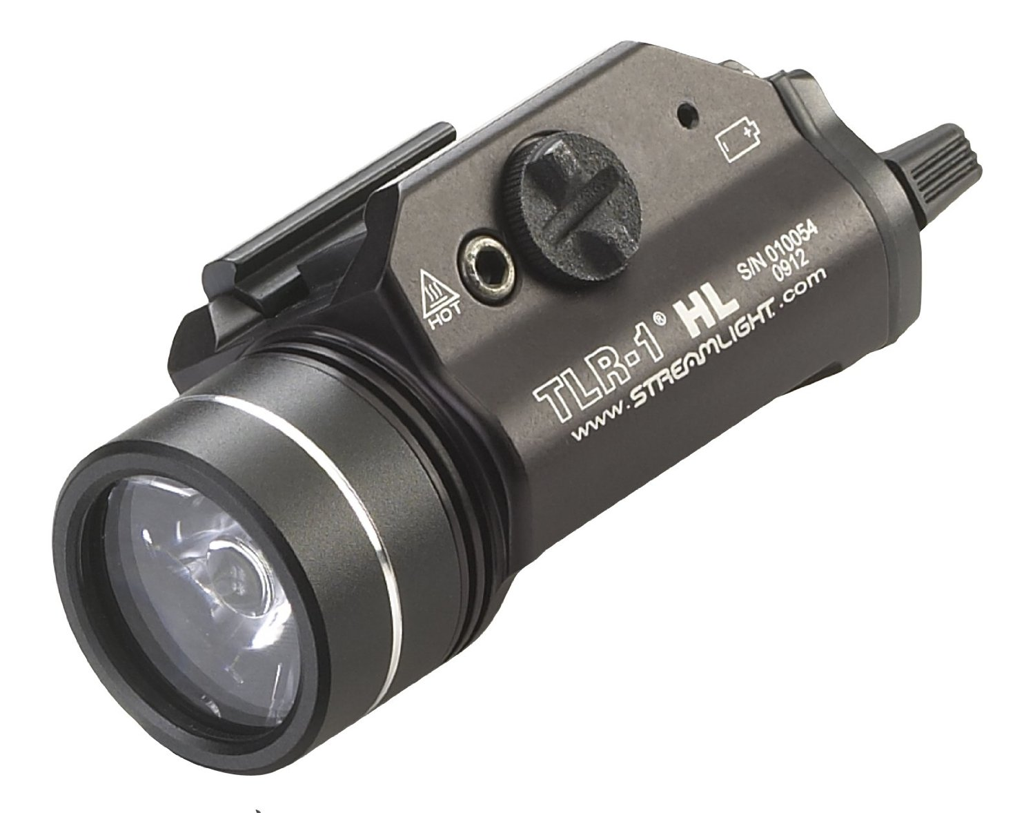 streamlight tlr1 tactical light on white background