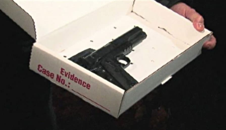 When officers arrived, they were unaware that the gun, which had the orange tip removed, was just a toy. (Photo: Cleveland Police Department)