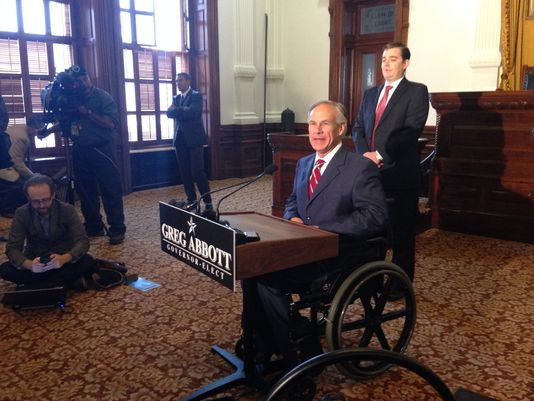 Texas governor-elect Greg Abbott just a day after winning election reiterated his support for open carry. (Photo: WFAA)