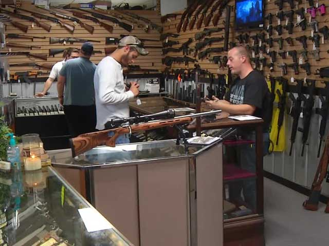 Harvey's Pistol and Pawn, shown here, is offering to ship guns to other FFL holders in Missouri to help arm those unable to find firearms locally. (Photo: WATE)