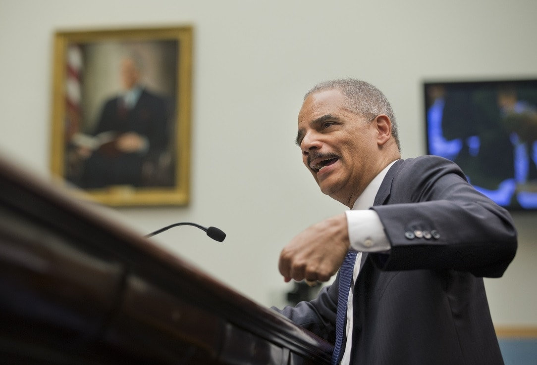 Attorney General Eric Holder testifies before the House Judiciary Committee on the oversight of the U.S. Department of Justice on Capitol Hill in Washington, earlier this year. (Photo: Manuel Balce Ceneta/AP)