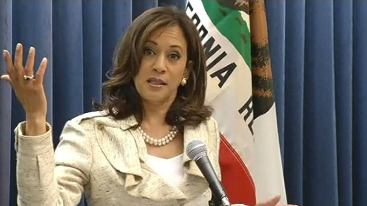 California Attorney General Kamala Harris and others has been denied entry into the Peruta lawsuit, which stands to roll back the state's may-issue concealed carry permitting scheme. (Photo: NBC Bay Area)