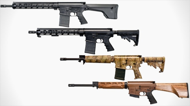 Four new .308 rifles. Something for everybody right here. (Photo: Windham Weaponry)
