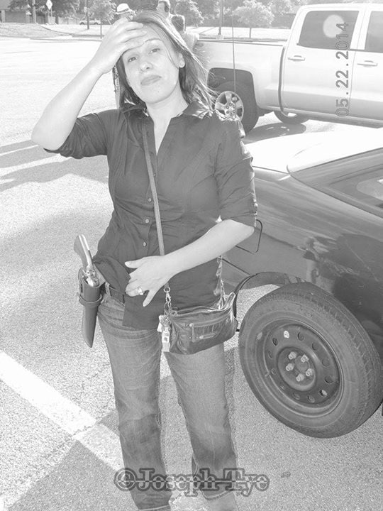 Veronica Dunnachie, 35, now a suspect in a double murder, is believed to be a member of two Texas open carry groups. (Photo: Facebook)