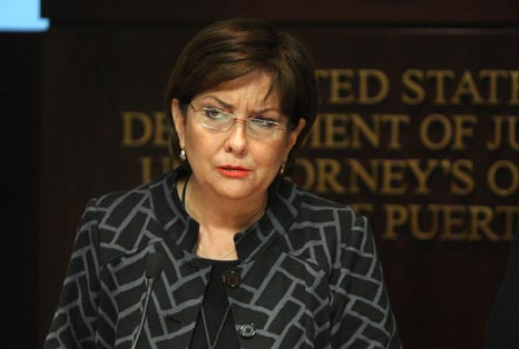 Rosa Emilia Rodríguez-Vélez, United States Attorney for the District of Puerto Rico detailed the case against a former police lieutenant who forged documents to supply illegal gun permits. (Photo: Diario de Puerto Rico)
