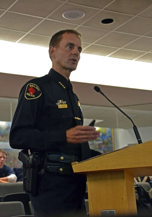 Beloit Police Chief Norm Jacobs is letting area residents know that his officers are willing to make free house calls to search for illegal guns. (Photo: Beloit Daily News)