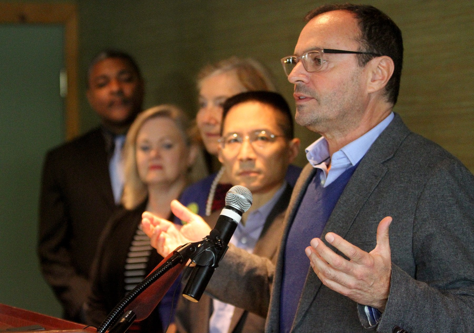 Sandy Brown, President of the Center for Gun Responsibility, headlined a host of new gun control measures they group intends to pursue in 2015. (Seattle Times)