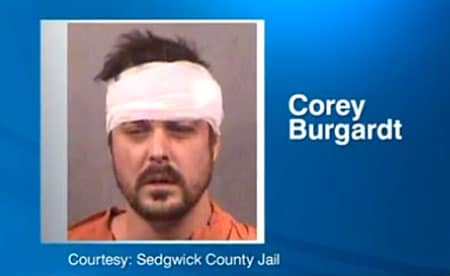 Corey Burgardt was charged with aggravated burglary, but may face other charges as well. (Photo:  Sedgwick County Jail)