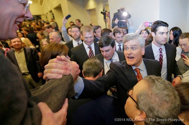 Senate-elect Bill Cassidy after winning his run-off election against Democratic incumbent Mary Landrieu Saturday night. (Photo: https://www.nola.com/politics/index.ssf/2014/12/bill_cassidy_defeats_mary_land.html The Times-Picayune)
