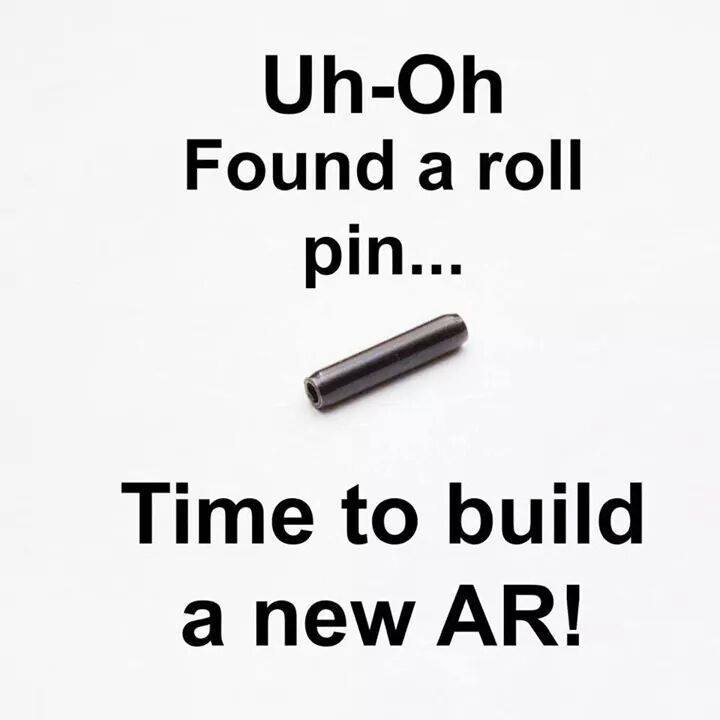 found roll pin time to build ar