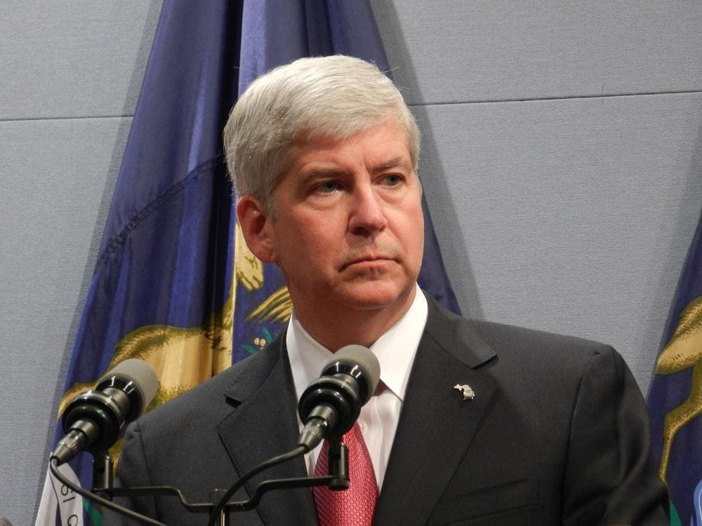 Gov. Rick Snyder (R) rejected four gun bills Monday citing that three companion bills of the package were missing in action. (Photo: Michigan Radio)