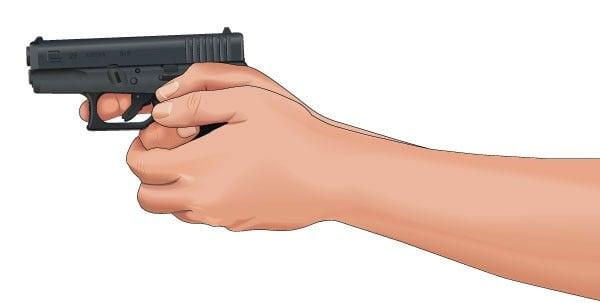 improper index finger position