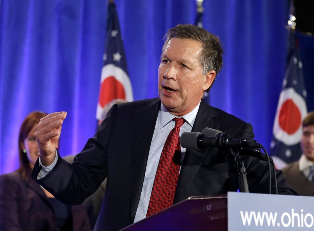 It is now the job of Gov. John Kasich (R) to sign or veto a bill expanding gun rights in Ohio to include the use of suppressors by hunters, concealed carry reform, and mandatory shall-certify rules for police chiefs. (Photo: AP)