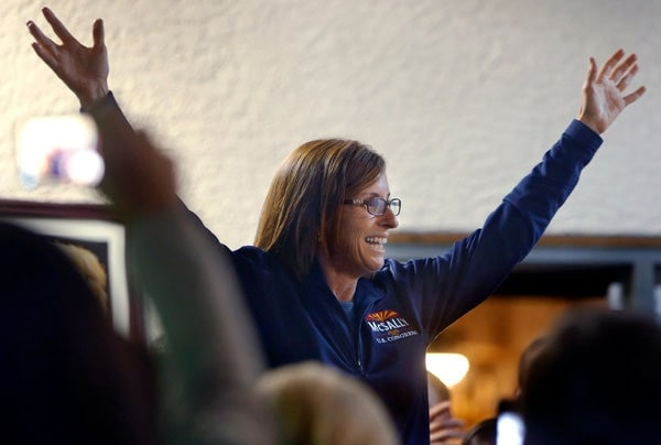 Election officials in Arizona declared Martha McSally the winner of the last Congressional seat in limbo following November's mid-term elections. (Photo: Kelly Presnell/Arizona Daily Star)
