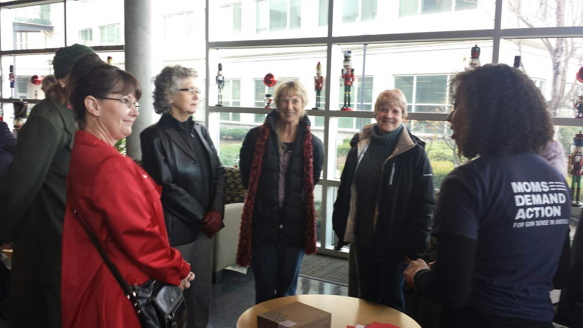 A group of 12 members from Moms Demand Action delivered a petition to Kroger-owned Fred Meyer supermarket headquarters in support of a ban on open carry. (Photo: Moms Demand Action)