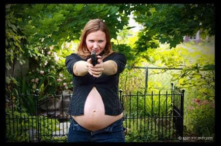 pregnant woman gun