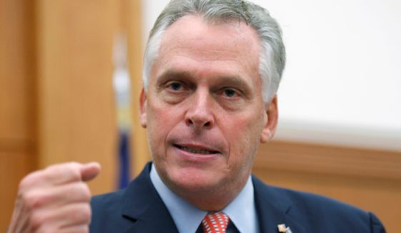 Virginia's Democrat Gov. Terry McAuliffe was disappointed that a dozen gun control bills were easily defeated Monday. (Photo: AP)