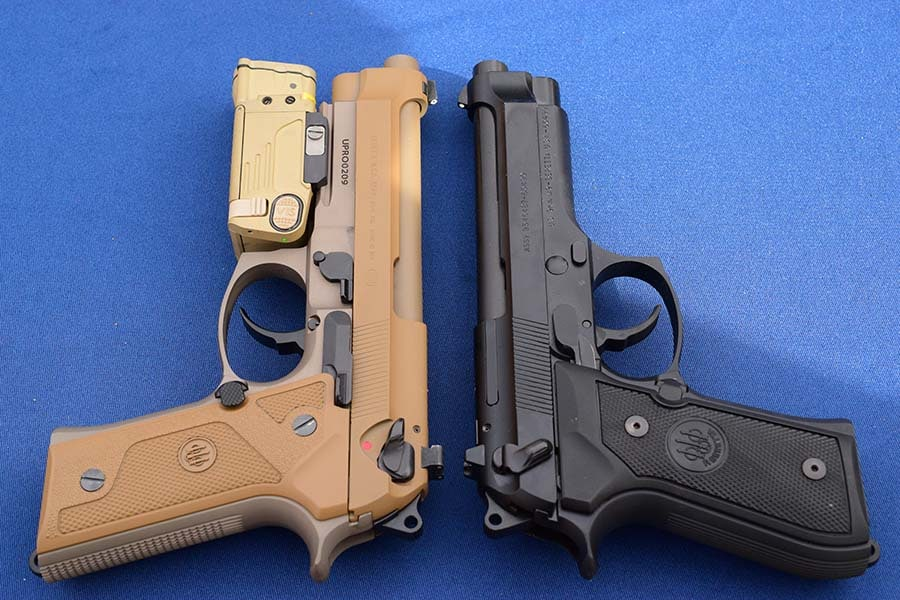 The M9A3 along side the current M9 it seeks to replace (Photo: Jim Grant)