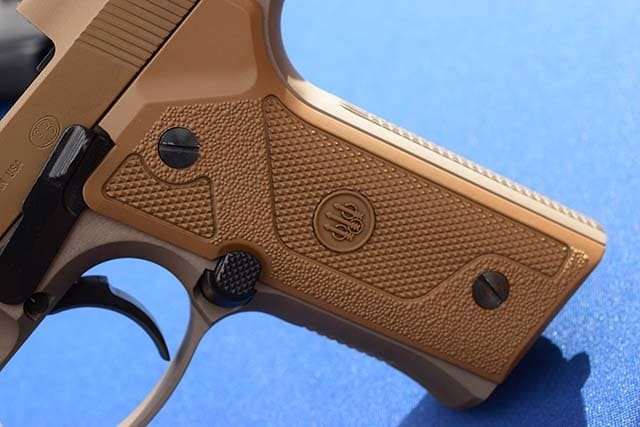 The M9A3 features a slimmer grip and extended magazine release. (Photo: Jim Grant)
