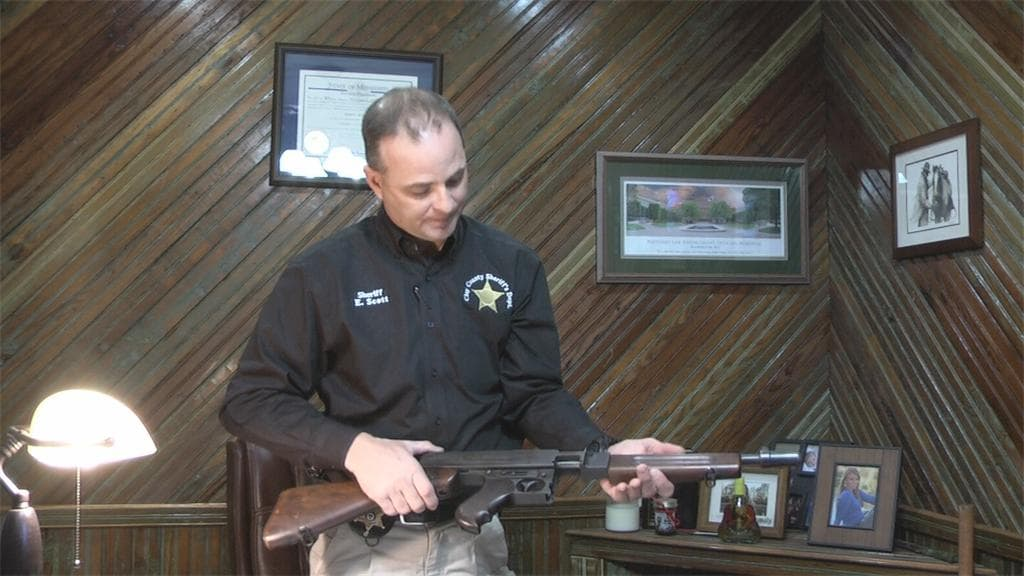Clay County Sheriff Eddie Scott wants to make a move on his department's vintage Tommy Gun and use the funds for more modern equipment. (Photo: WTVA)