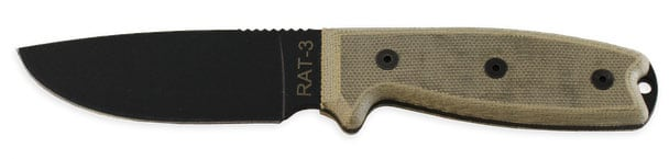 RAT-3 fixed blade knife Ontario knife company