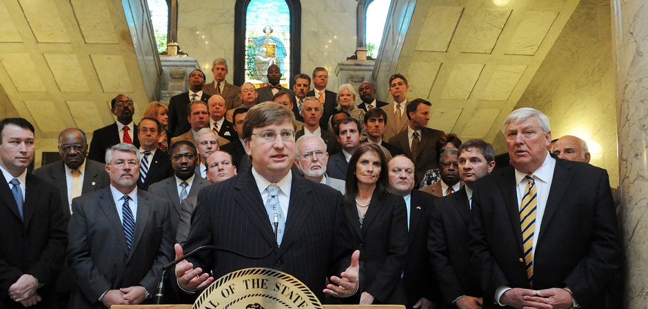 Mississippi Lt. Gov. Tate Reeves, podium, is making concealed carry reform part of his legislative agenda. (Photo: Tate Reeves)