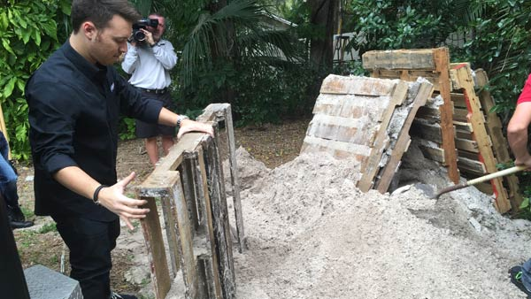 Joey Carannante decided to break up his backyard shooting range following an outcry from neighbors that included death threats. (Photo: WFLA)