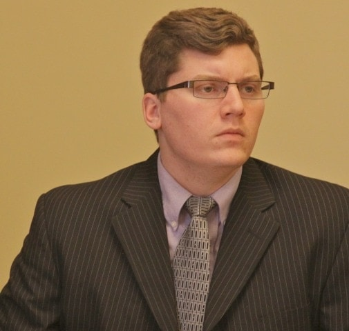 State Sen. Jacob LaTurner, R-Pittsburg, cast the carrying vote on a bill this week to approve permitless concealed carry in Kansas. (Photo: KHI)