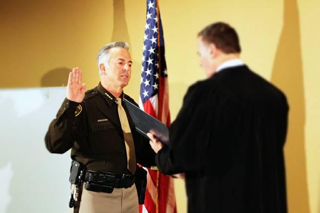Clark County Sheriff Joe Lombardo, sworn in last month, is on record wanting to scuttle the long-standing handgun registry in Las Vegas. (Photo: LVMP)