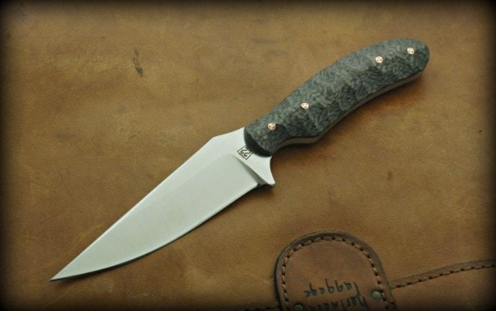 Joey Watson custom mini-Bowie knife