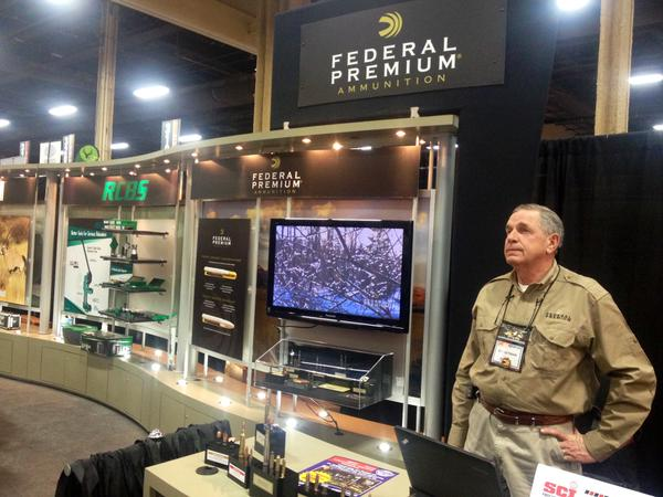The Federal Premium booth at 2015's Safari Club convention in Las Vegas. The ammo manufacturer is part of the more than 30 brands under Vista Outdoor. (Photo: Federal Premium)