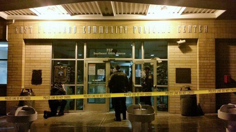 A 16-year-old boy is facing an attempted murder charge in connection with a gang-related shooting that occurred in front of the Portland Police Bureau's East Precinct late Saturday night, police said. (Photo: PPB)
