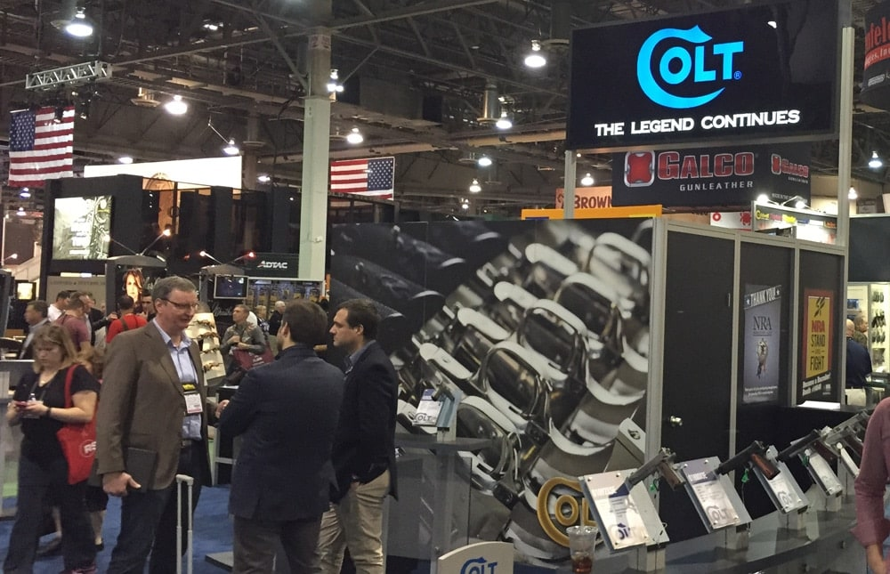 Playas play at the Colt booth during SHOT Show 2015. (Photo: Daniel Terrill)