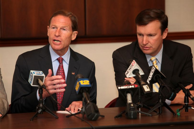 U.S. Sens. Richard Blumenthal and Chris Murphy are among influential Dems on Capitol Hill now pursuing a ban on green tip ammunition. (Photo: CT Post)