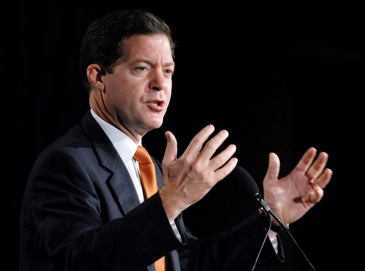 Gov. Sam Brownback (R) now has the decision to make Kansas a constitutional carry state in his hands. (Photo: AP)