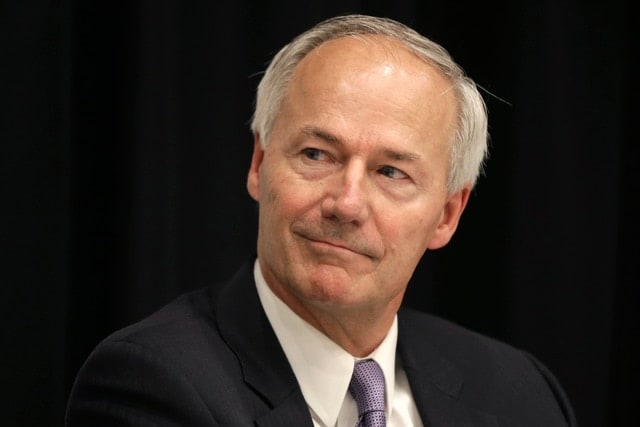 Gov. Asa Hutchinson, R, will soon consider three new gun rights bills headed his way, likely briefly. (Photo: Danny Johnson/Memphis Commercial Appeal)