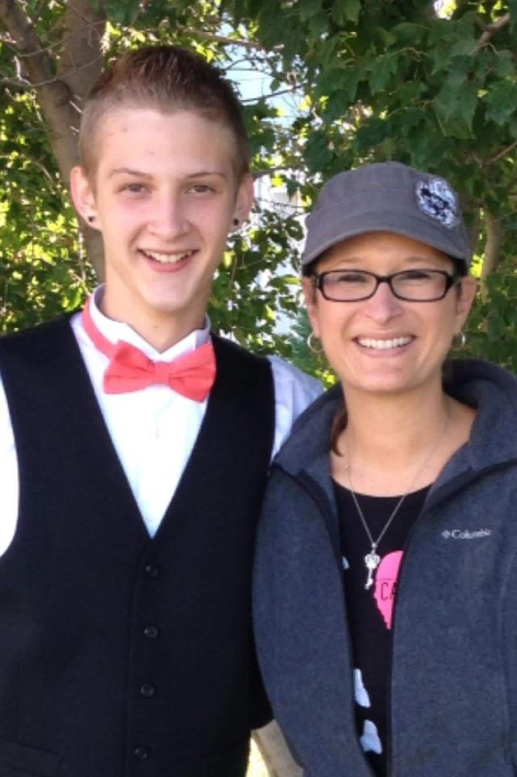 Bryce Masters, 17, and his mother. (Photo: Facebook)