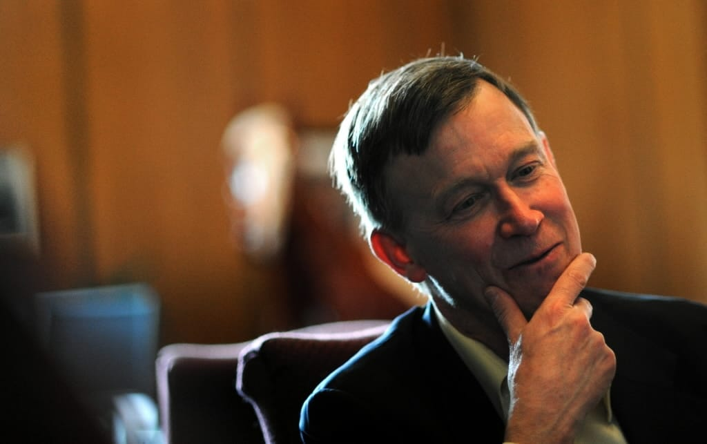 If a measure to repeal the state's expanded background check mandate passed by the Colorado Senate this week picks up a couple Dems in the House, it may soon be on John Hickenlooper's desk. (Photo: Denver Post)