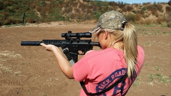 Title II devices such as suppressors and short-barreled rifles are at the heart of the shall-sign legislation that passed without dissent through the WV legislature (Photo: AAC https://www.aacblog.com/kendall-jones-and-aac/attachment/110320143/ )
