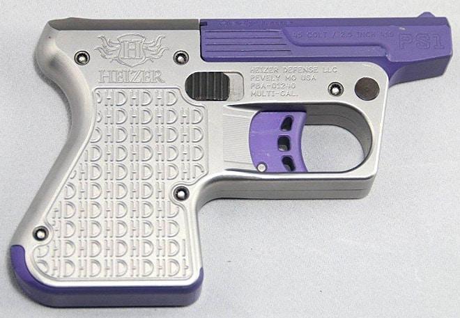 two-tone purple pocket shotgun